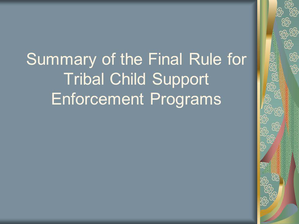 Subpart C—Tribal IV-D Plan Requirements 2.