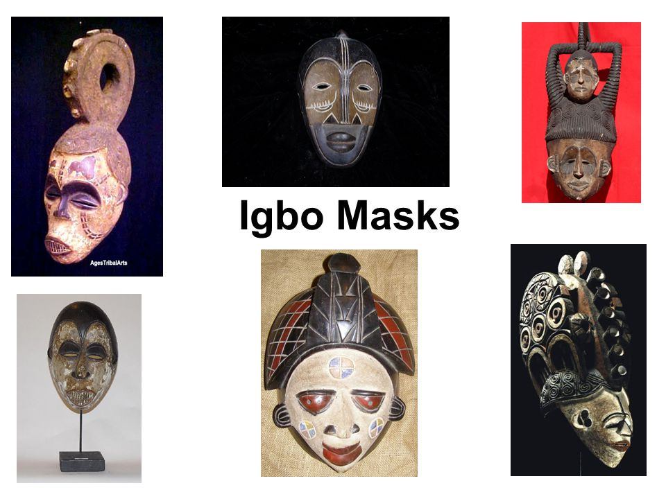 Purpose Masks are usually made of wood and/or fabric Namely: –social satires –sacred rituals (for ancestors and invocation of the gods) – initiation –second burials –public festivals