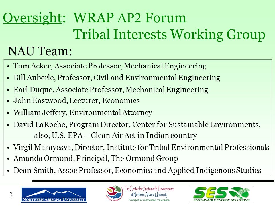 4 The Tribal Reports: Chronology u Tribal Renewables Report –December 2000 Initiated –May 2001: Draft –April 2002: Final Draft (Under Review) u Tribal Efficiency Report –September 2001 Initiated –June 2002 Preliminary Draft –August 2002 Draft u ICF Modeling of Impacts –IPM, REMI; ICF visit November 2001 u Overall Summary Report – AP2 State & Tribal: Tellus; July 2002