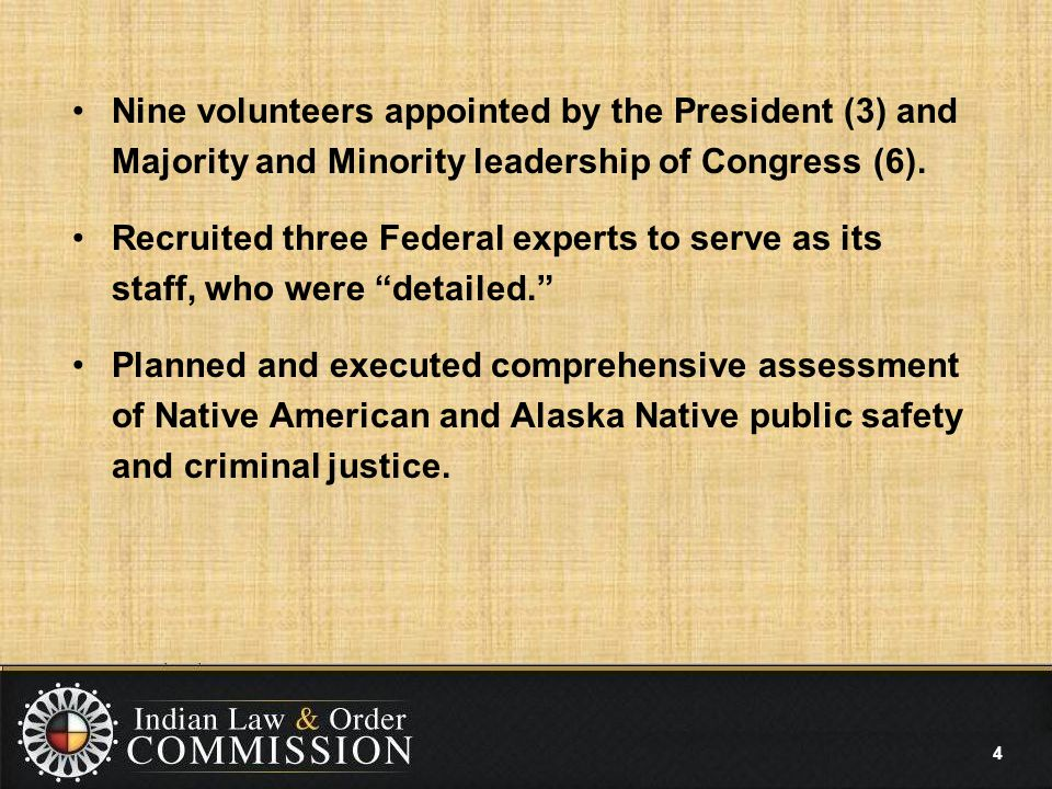 Nine volunteers appointed by the President (3) and Majority and Minority leadership of Congress (6).