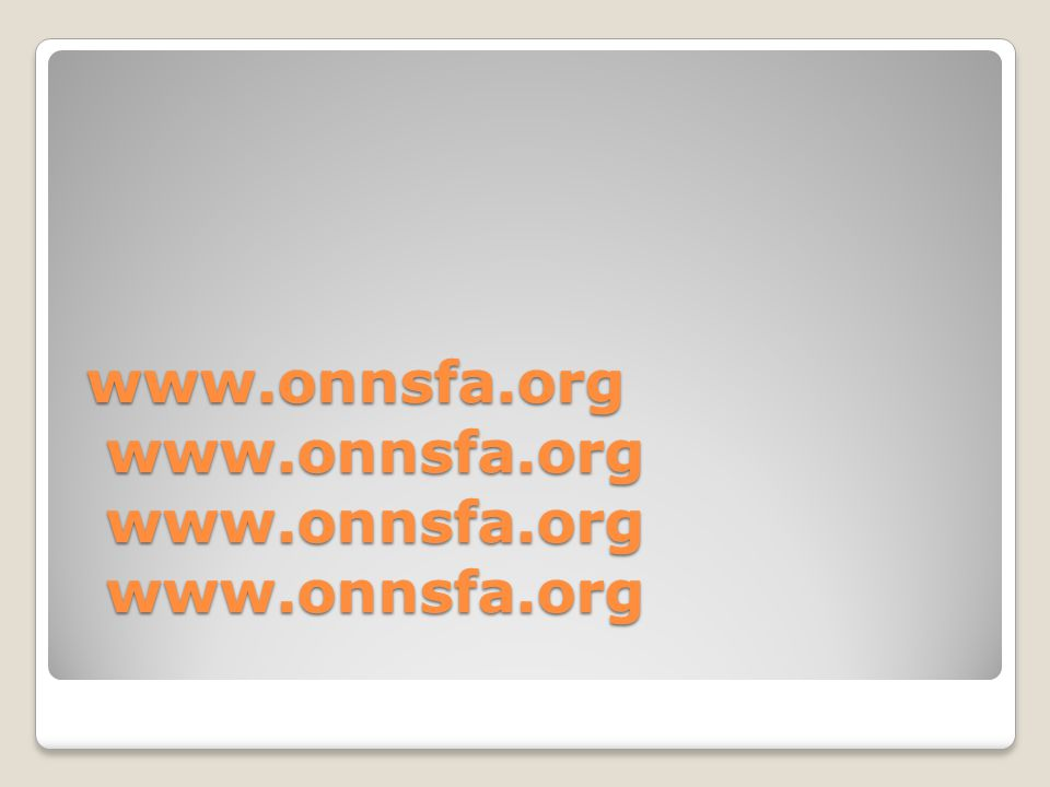 Online FNAs ONNSFA Online FNAs are real time.