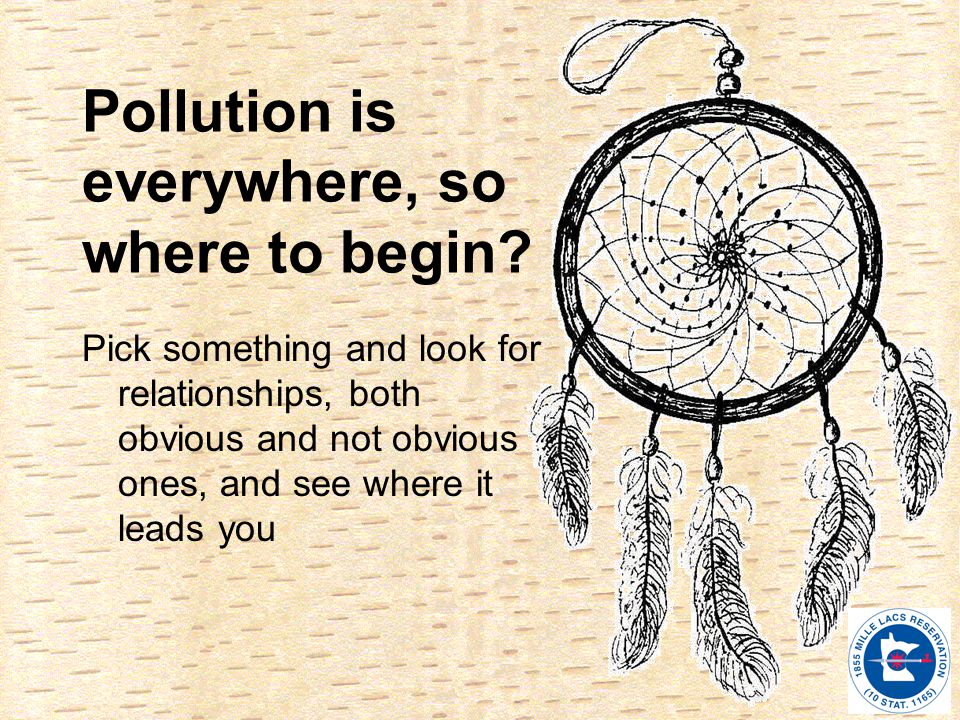 Pollution is everywhere, so where to begin.