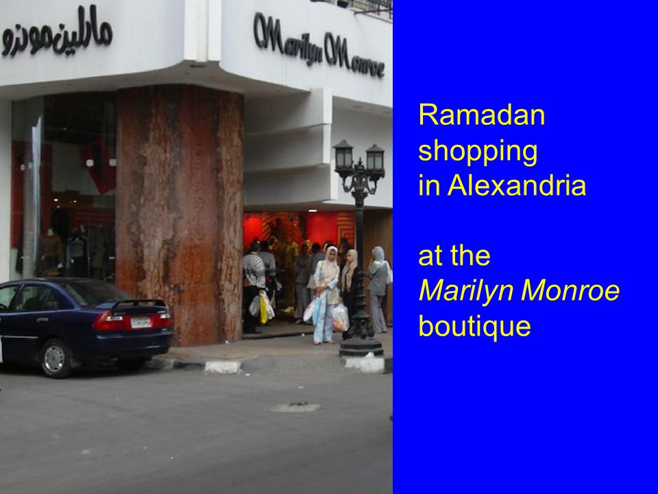 Ramadan shopping in Alexandria at the Marilyn Monroe boutique