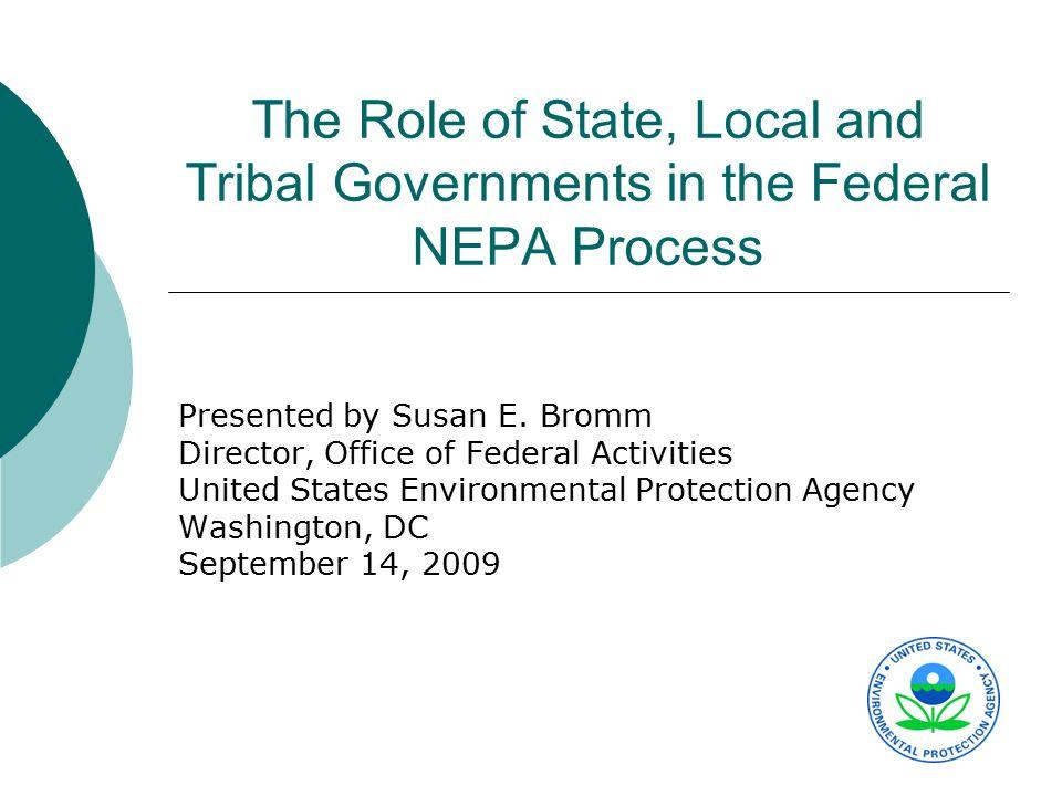 Roles for All Non-Federal Participants  All non-Federal groups (i.e.