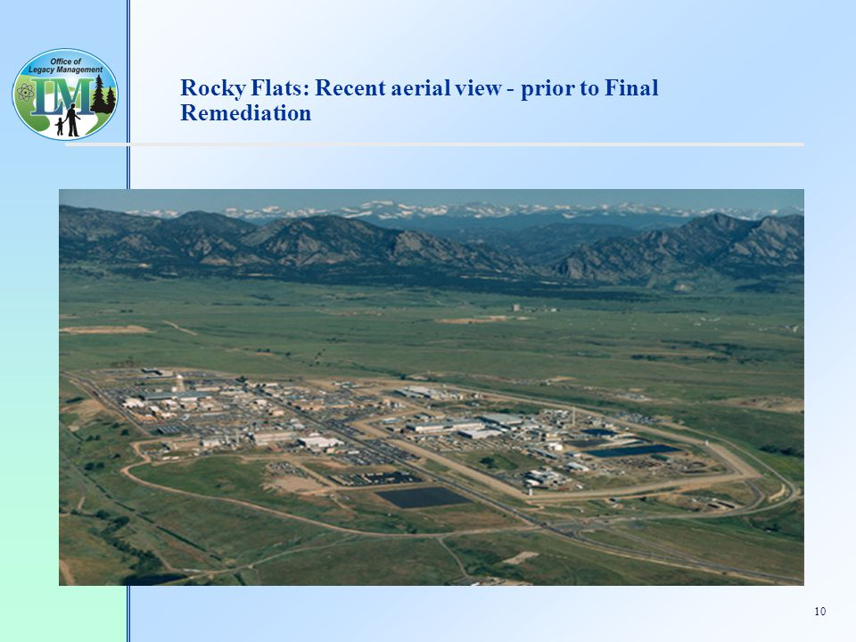 10 Rocky Flats: Recent aerial view - prior to Final Remediation