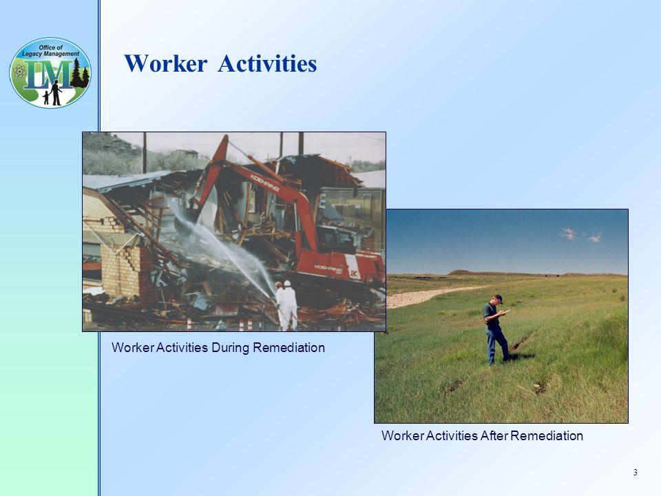 3 Worker Activities Worker Activities During Remediation Worker Activities After Remediation