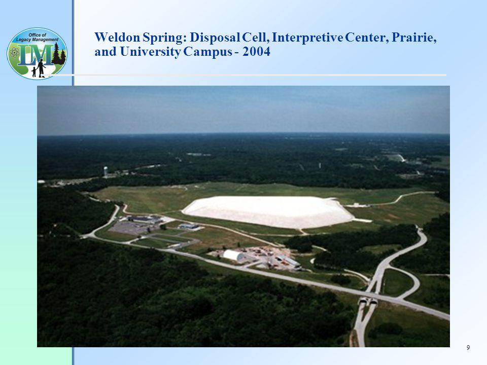 9 Weldon Spring: Disposal Cell, Interpretive Center, Prairie, and University Campus - 2004