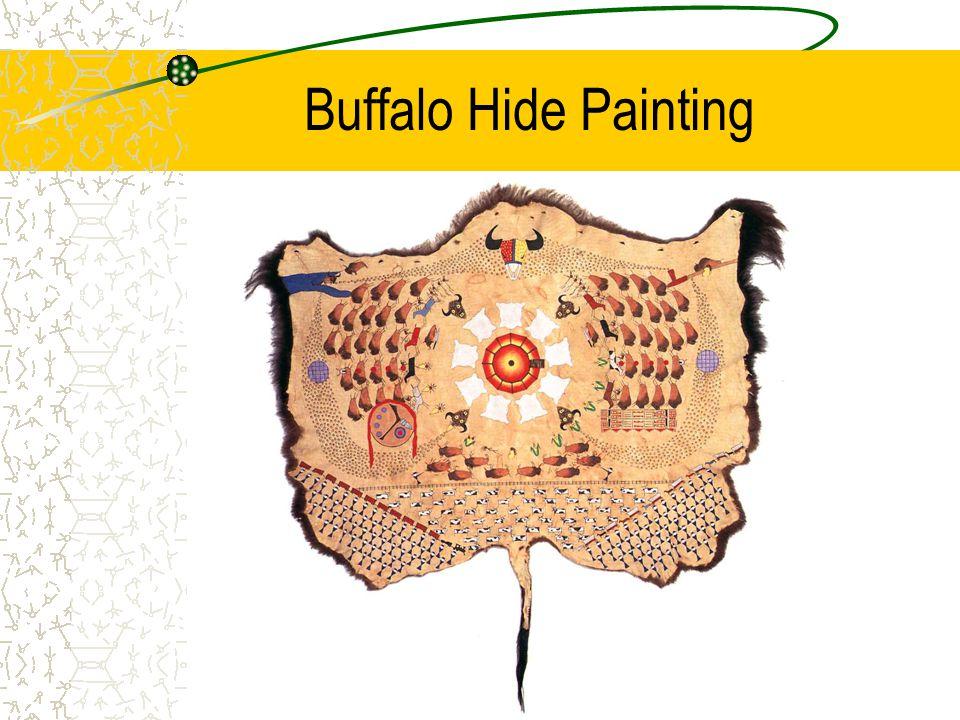 Buffalo Hide Painting