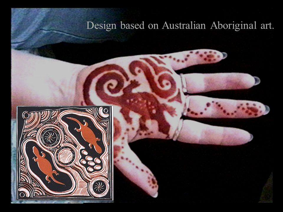 Design based on Australian Aboriginal art.