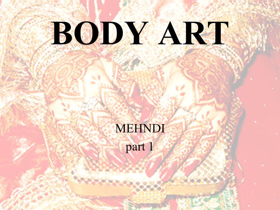 BODY ART MEHNDI part 1