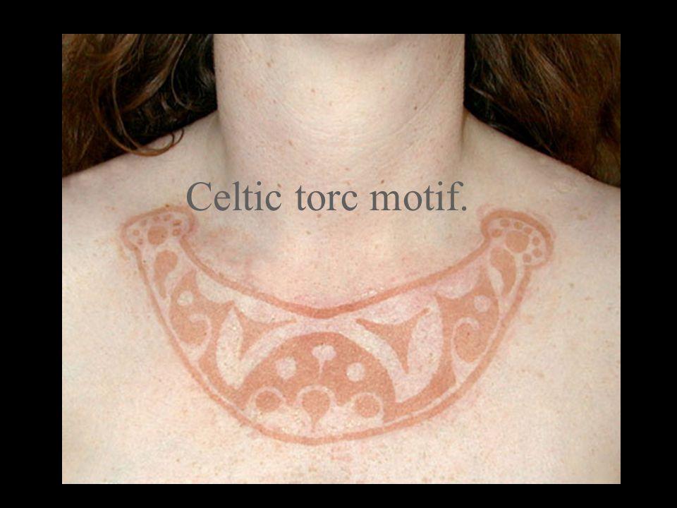 Celtic torc motif.