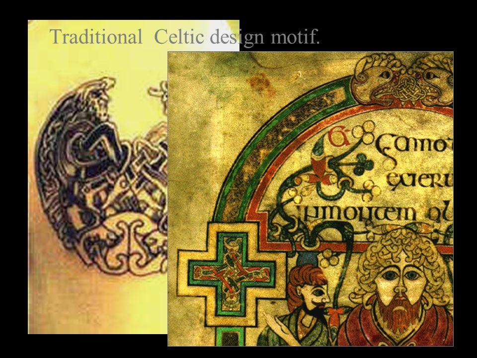 Traditional Celtic design motif.