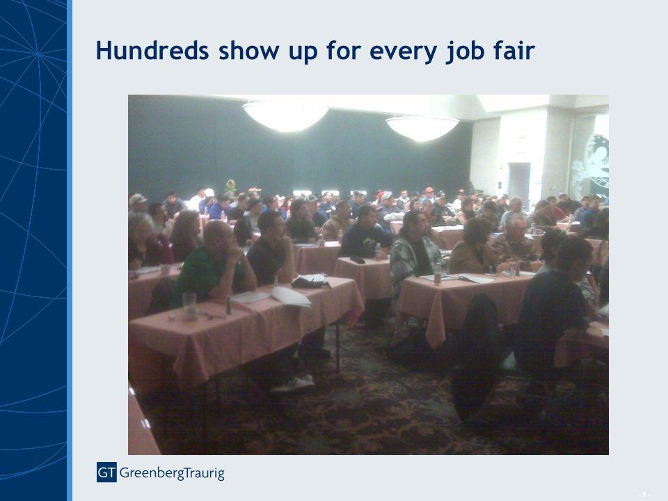 - 9 - Hundreds show up for every job fair