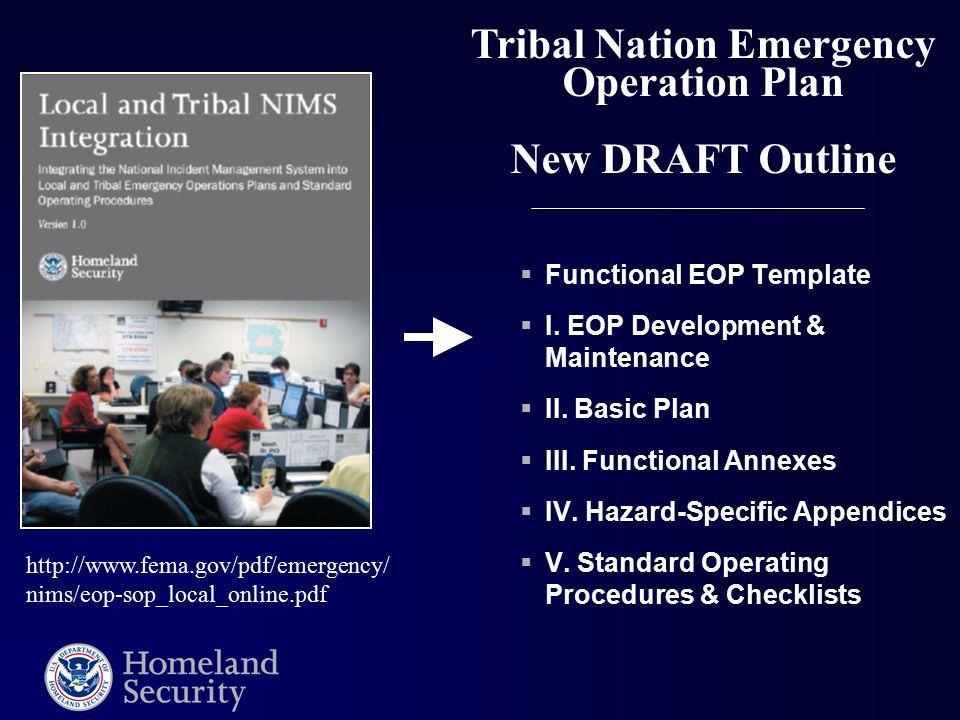  Functional EOP Template  I. EOP Development & Maintenance  II.