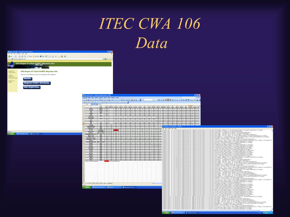 ITEC CWA 106 Data