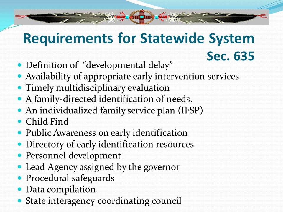 Requirements for Statewide System Sec.