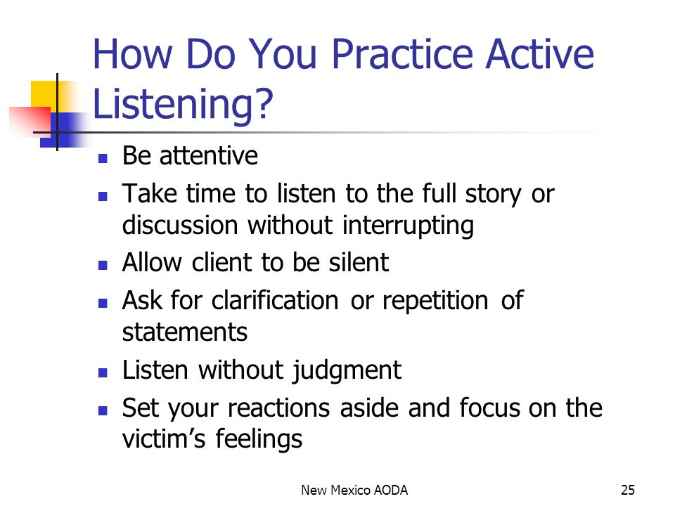 How Do You Practice Active Listening.