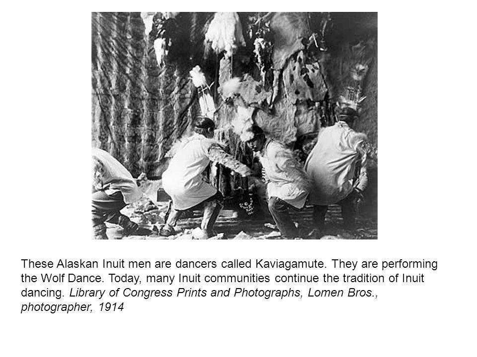 These Alaskan Inuit men are dancers called Kaviagamute.