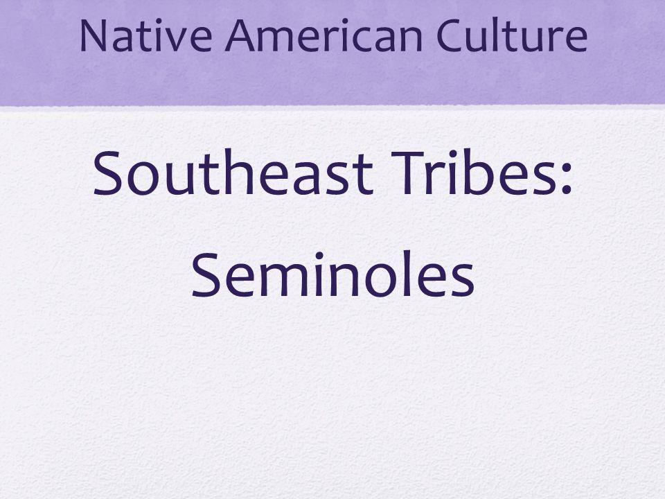 Native American Culture Southeast Tribes: Seminoles