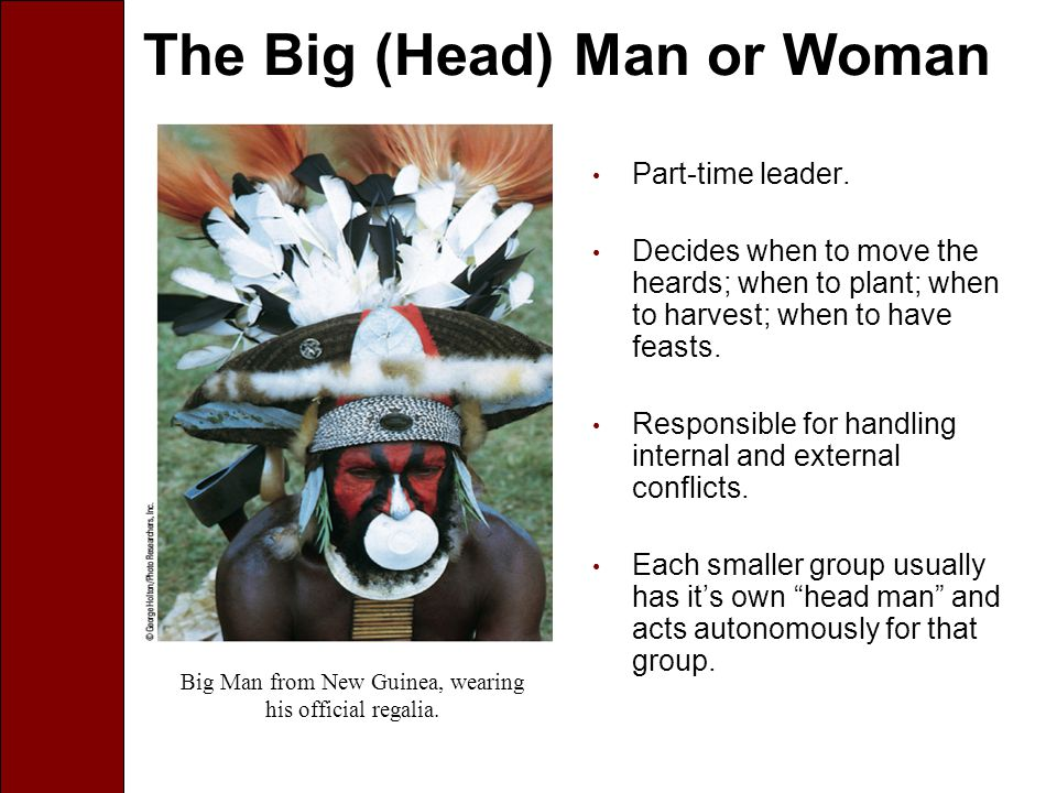 The Big (Head) Man or Woman Part-time leader.