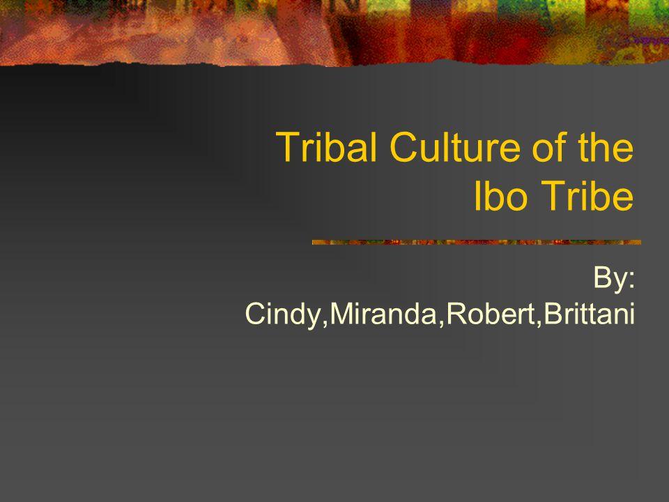 Tribal Culture of the Ibo Tribe By: Cindy,Miranda,Robert,Brittani