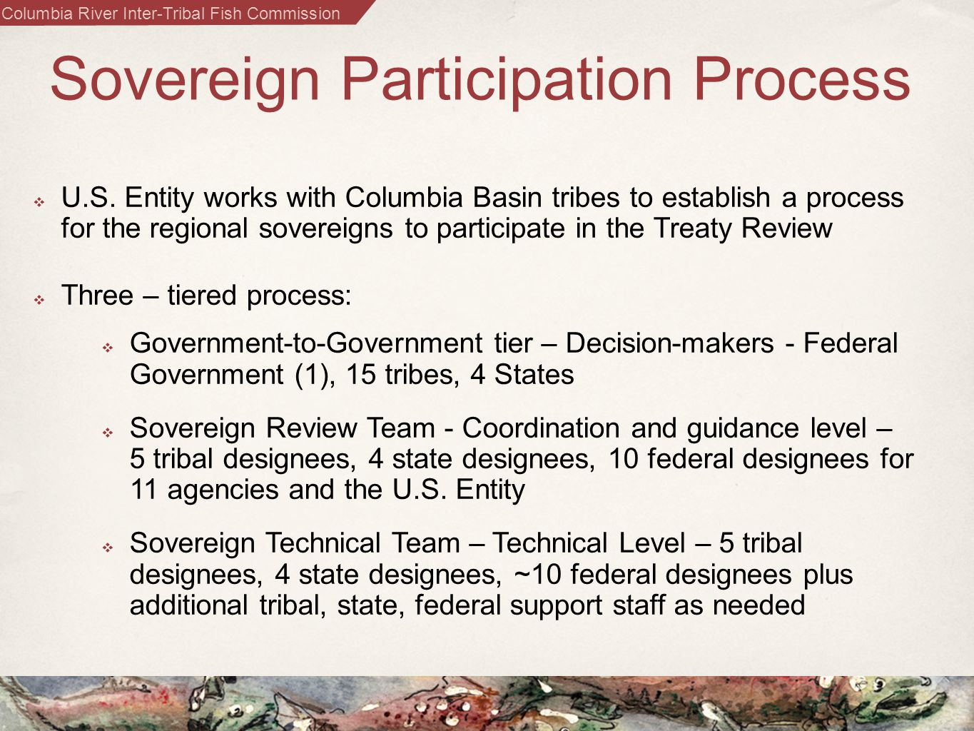 Columbia River Inter-Tribal Fish Commission Sovereign Participation Process  U.S.