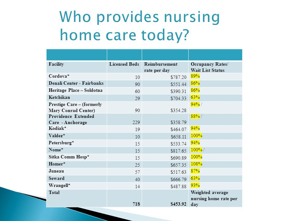Who provides nursing home care today.