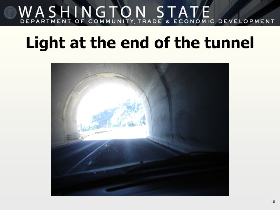 18 Light at the end of the tunnel