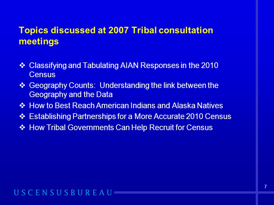 Enumeration Methodologies for American Indian and Alaska Native areas  Remote List/Enumerate Alaska  Update/Leave (update maps/registers and leave census forms to mail back)  Update/Enumerate (update residential addresses/maps and completion of questionnaire for housing unit)