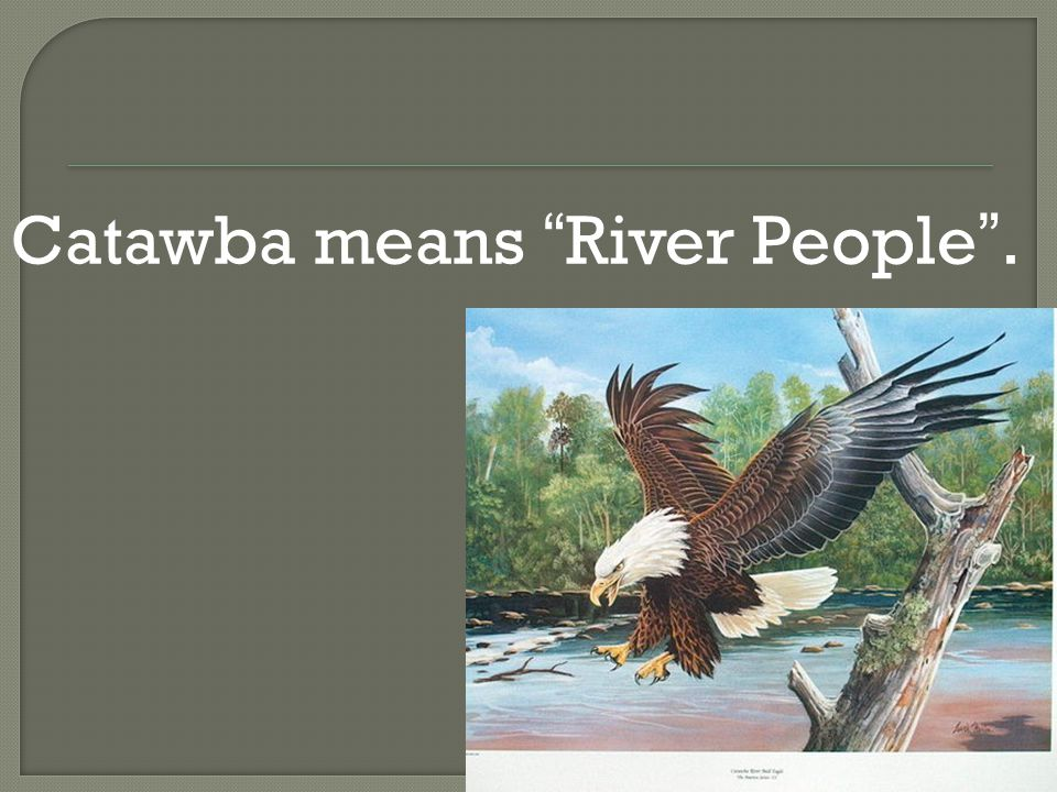 Catawba means River People .