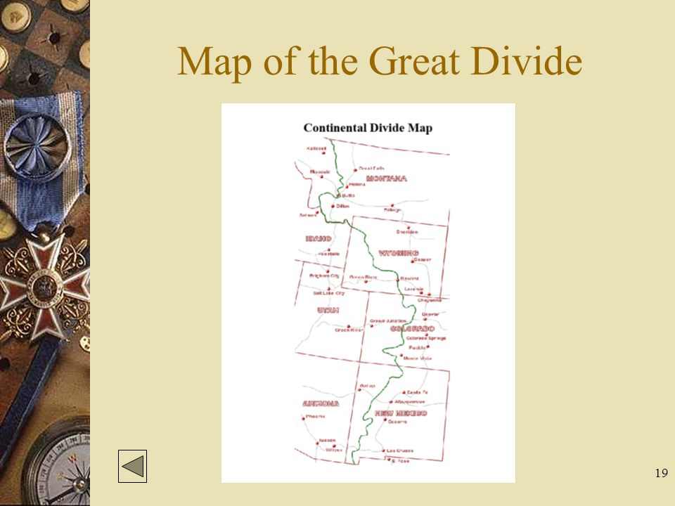 19 Map of the Great Divide