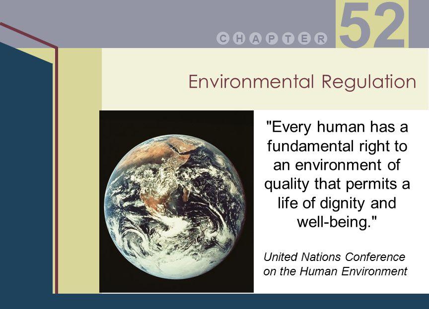 Environmental Regulation PA E TR HC 52