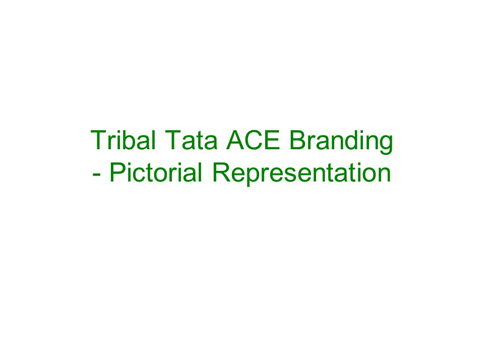 1.This presentation explains on how different sides of a TATA ACE vehicle would look like with the branding elements.