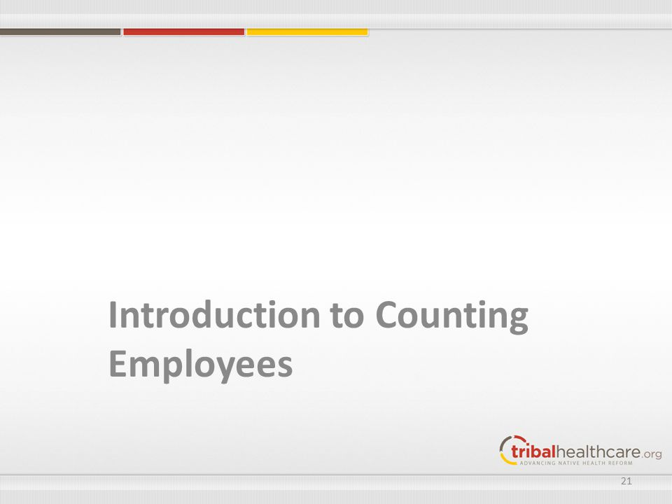 Introduction to Counting Employees 21