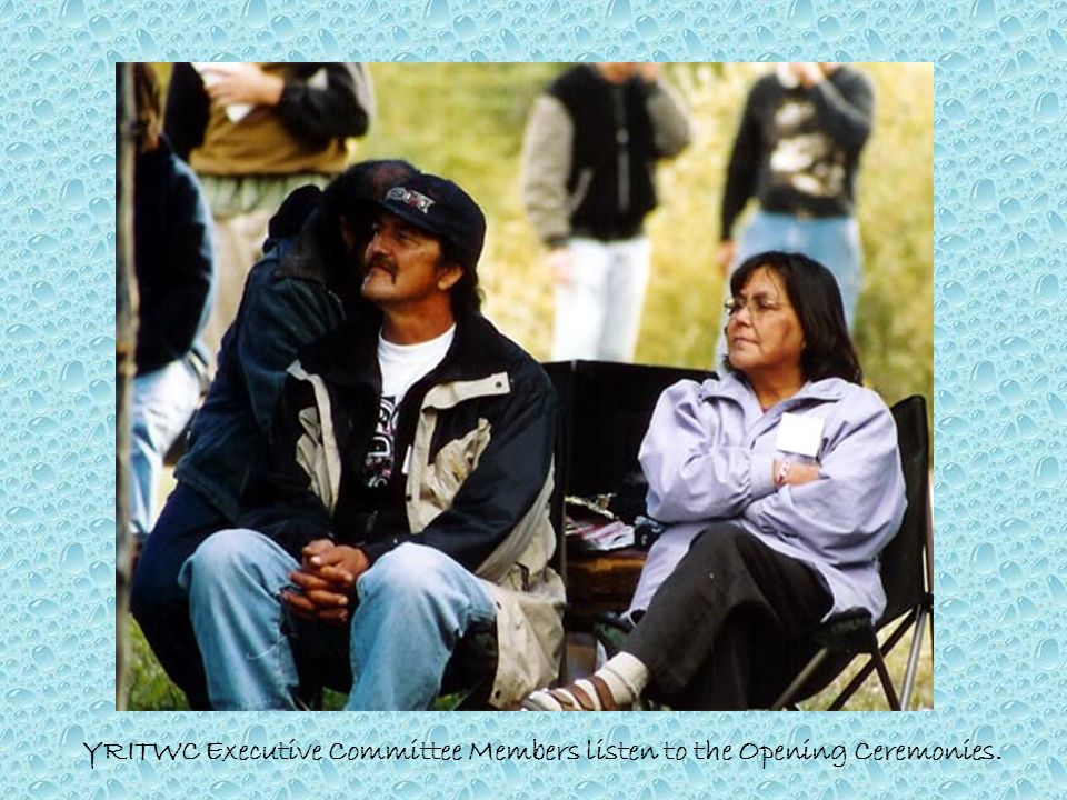 YRITWC Executive Committee Members listen to the Opening Ceremonies.