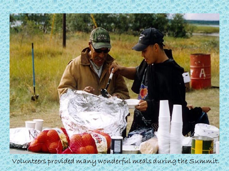 Volunteers provided many wonderful meals during the Summit.