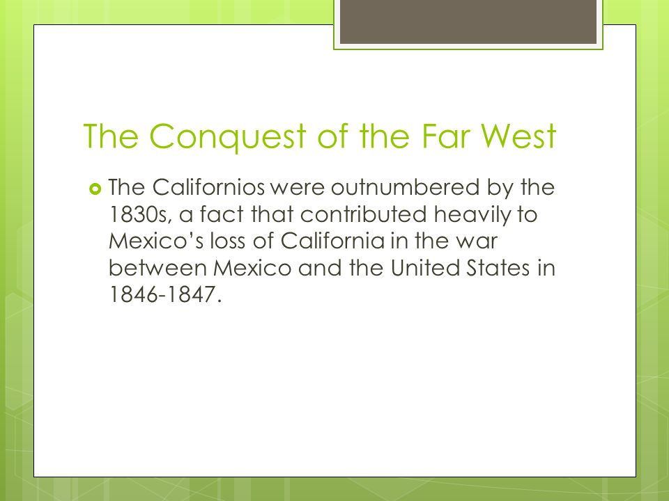 The Conquest of the Far West  With the last of the frontier being settled as of 1890, how would the country cope with the absence of a reason for developing .