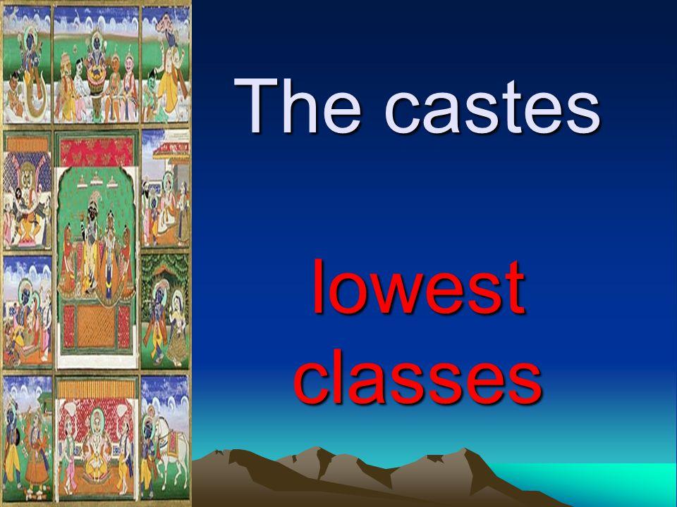 The castes lowest classes