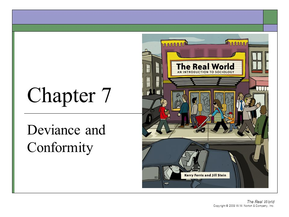 The Real World Copyright © 2008 W.W.Norton & Company, Inc.