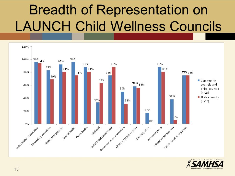 13 Breadth of Representation on LAUNCH Child Wellness Councils