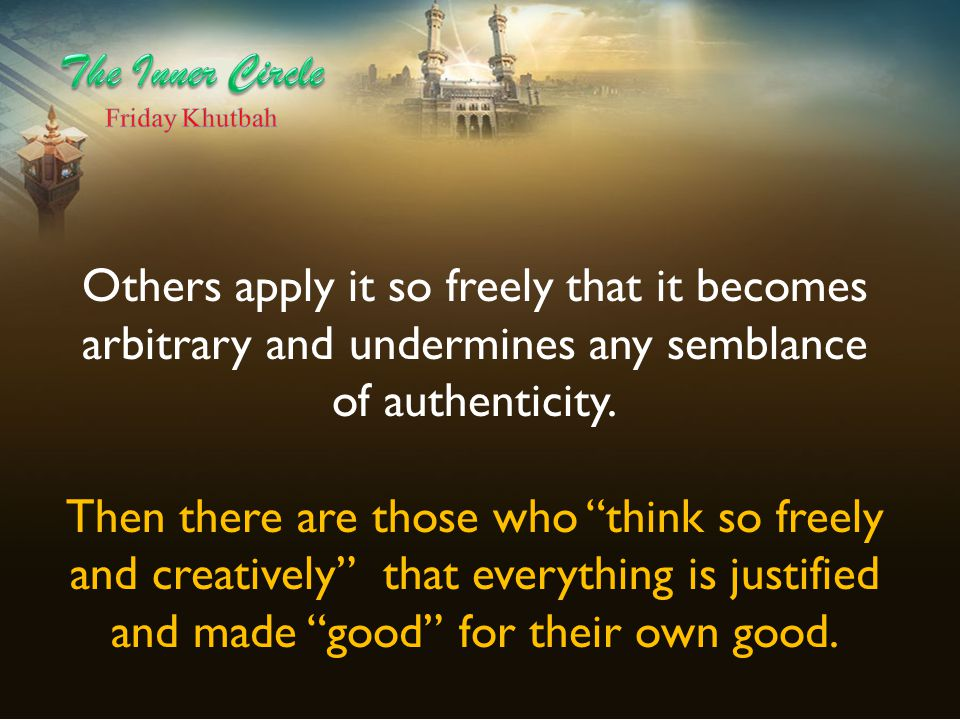 Al-Baji, a traditional Sunni jurist, defined ijtihad as expending one's fullest [intellectual] capacity in search of the right ruling.