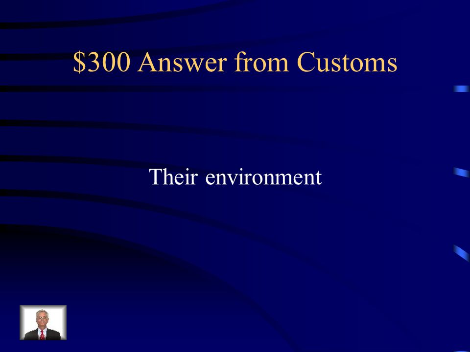 $300 Question from Customs Where did materials used by Native Americans come from?