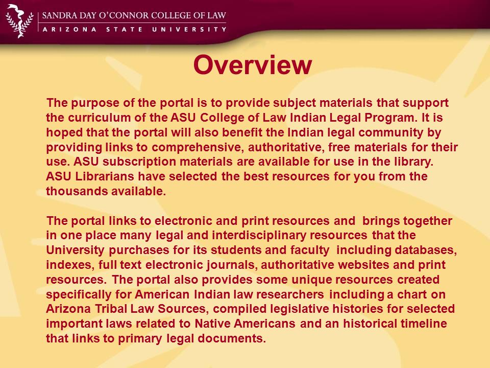 The Toolbar Websites Links to authoritative websites in the fields of American Indian law including: federal Indian law, tribal law, Indian gaming, cultural property, economic development, environmental law, treaties, etc.