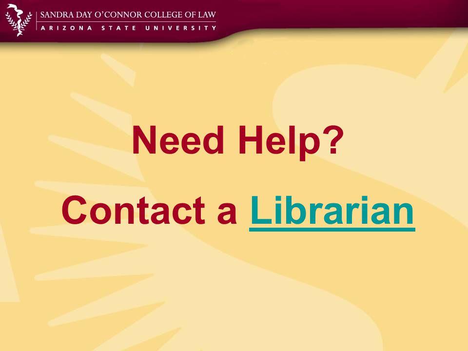 Need Help Contact a LibrarianLibrarian