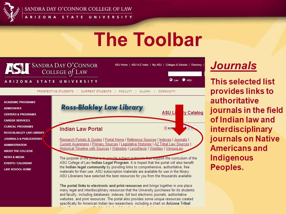 The Toolbar Current Awareness Links to the best resources for keeping current in American Indian Law including websites, magazines, newsletters and newspapers.