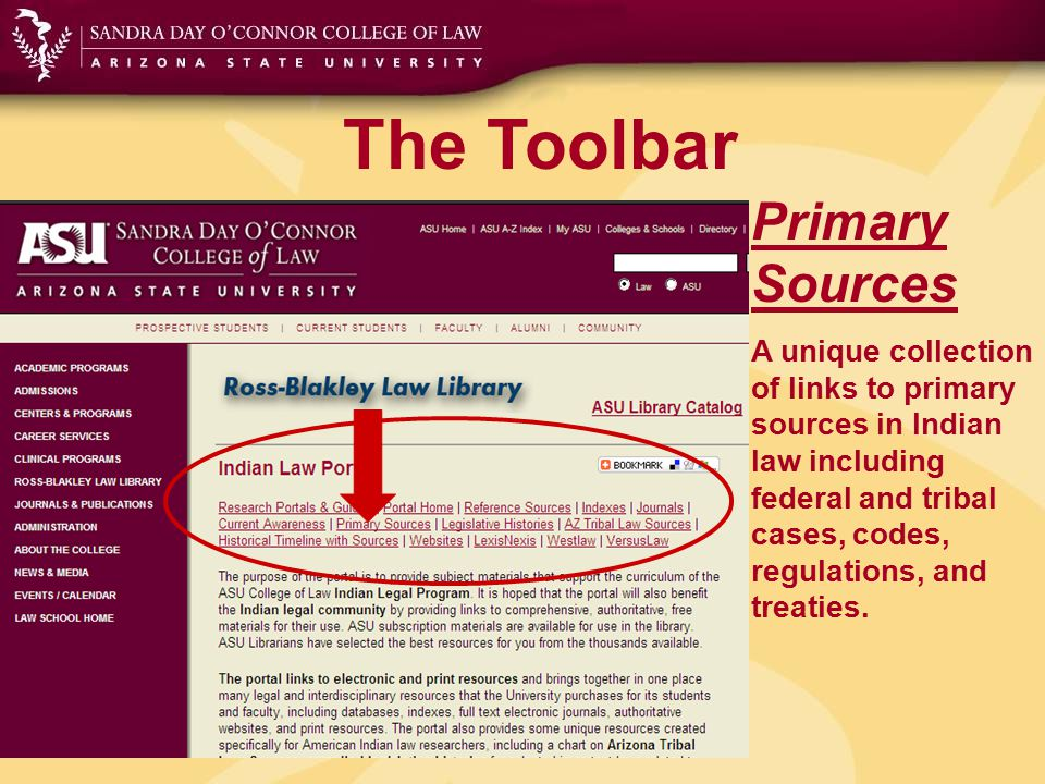 The Toolbar Legislative Histories A collection of compiled legislative histories relating to American Indian law with links to the Public Law, U.S.