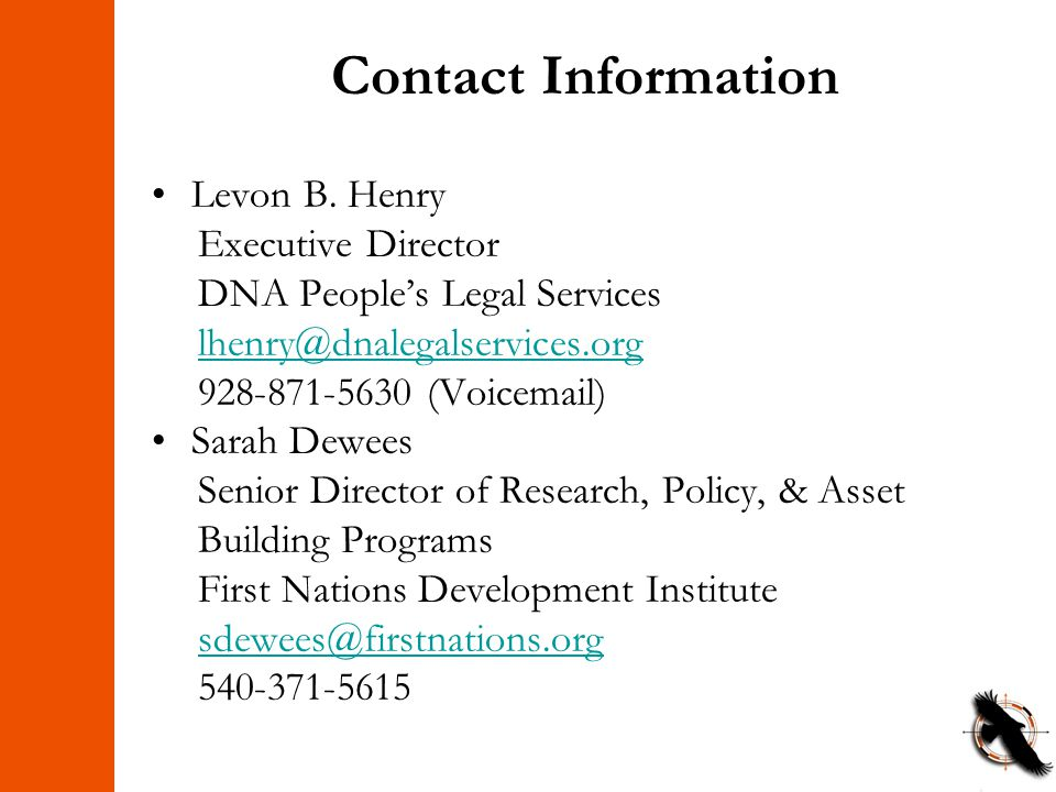 Contact Information Levon B.