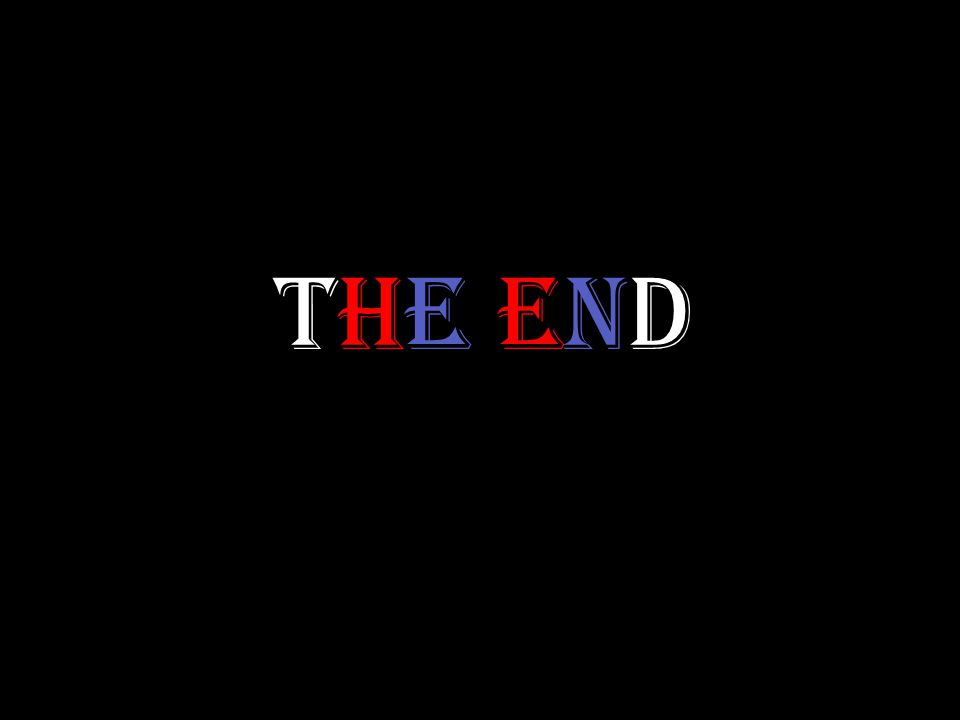 THE ENDTHE END