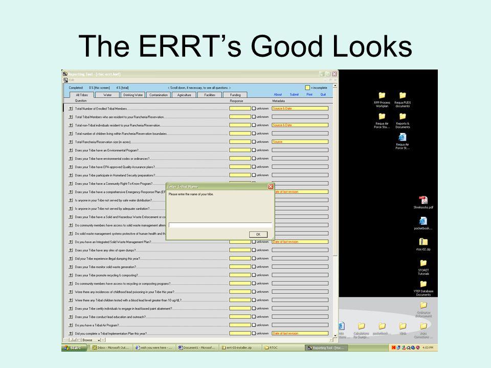 The ERRT's Good Looks