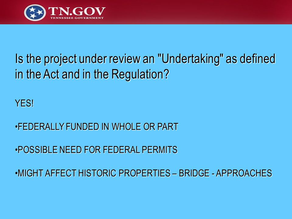 Is the project under review an Undertaking as defined in the Act and in the Regulation.